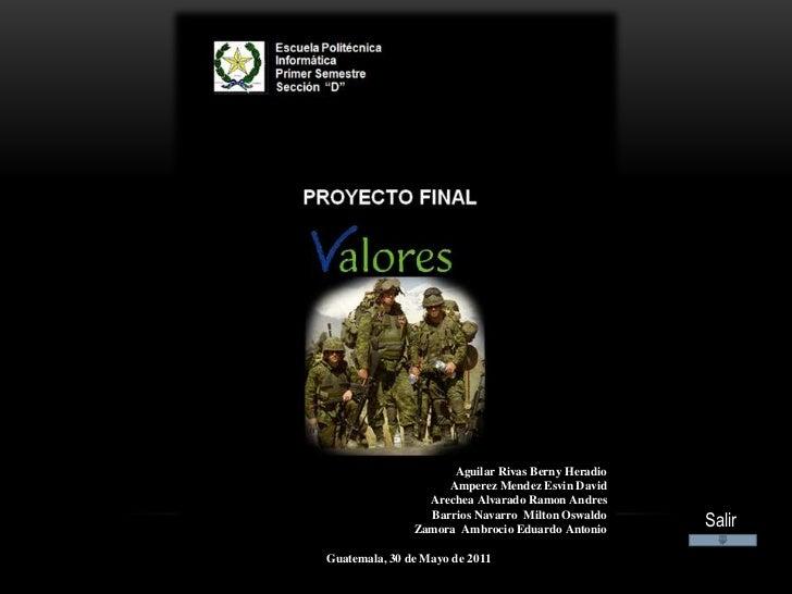 Aguilar Rivas Berny Heradio                    Amperez Mendez Esvin David                 Arechea Alvarado Ramon Andres   ...