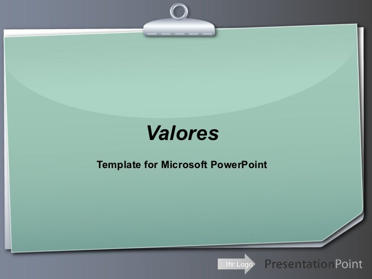ValoresTemplate for Microsoft PowerPoint                         Ihr Logo
