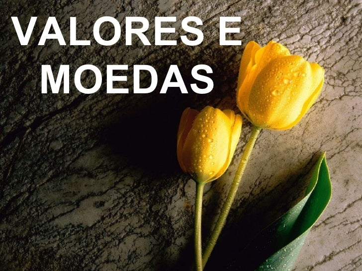 VALORES E MOEDAS