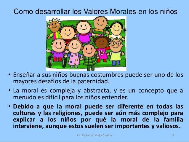 Valores humanos morales y civicos for Concepto de la familia para ninos