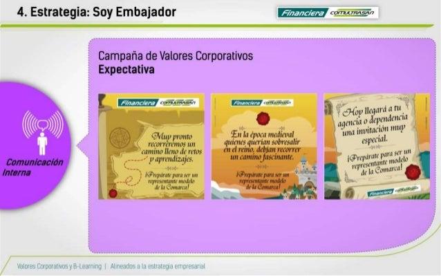 "4. Estrategia:  Soy Embajador     Campaña de Valores Corporativos  Expectativa  ,  'pz.  ¡',1 ¿{cáiñiyïïuïn  ker-""ïrWeïï  ..."