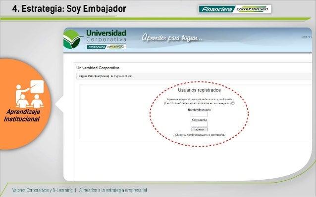 4. Estrategia:  Soy Embajador r F/ hc/ Z-'ra cía     aprende/ t                            Universidad Corporativa  Página...