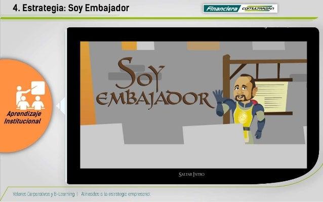 4. Estrategia:  Soy Embajador Ifiízïrwfin  59W'   i'3)/ i? >rA_)r COCNQE .   K  Aprendizaje Institucional