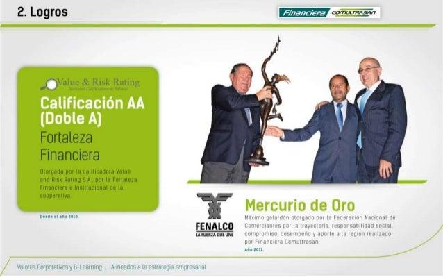 2. Logros emanan  MÏJÍHC tk Risk Ruiiiig  Fortaleza Financiera  Otorgado por ia calihcaaoia Value and Risk Rating S A,  po...