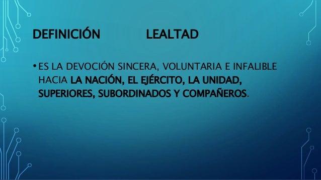 Lealtad Definicion