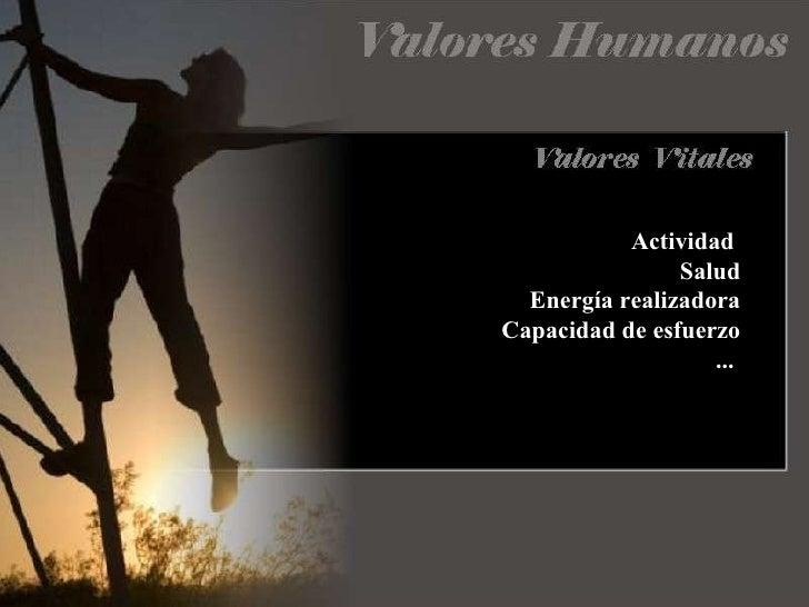 Actividad  Salud Energía realizadora Capacidad de esfuerzo ...