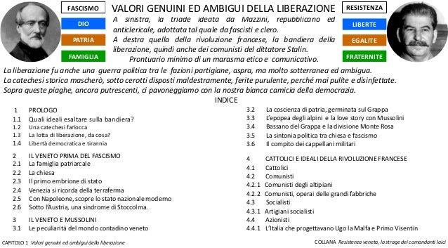 CAPITOLO 1 Valori genuini ed ambigui della liberazione COLLANA Resistenza veneta, la strage dei comandanti laici LIBERTE F...