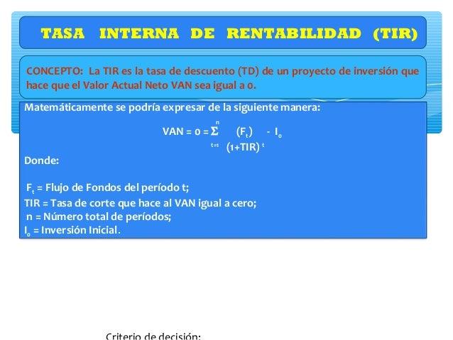 Mecánica del cálculo del TIR (Tasa Interna de Retorno) Períodos 0 1 2 3 4 5 Saldos Actualizados al momento cero -500 100 1...