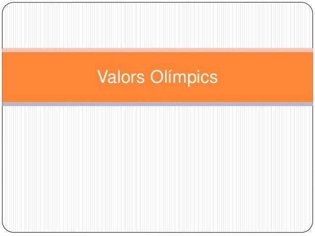Valors Olímpics