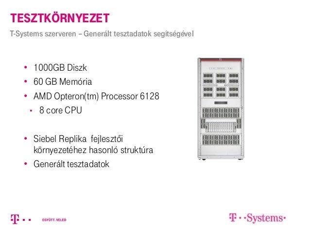 • 1000GB Diszk • 60 GB Memória • AMD Opteron(tm) Processor 6128 • 8 core CPU • Siebel Replika fejlesztői környezetéhez has...