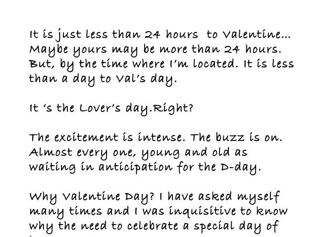 3 i have heard some stories about how valentine