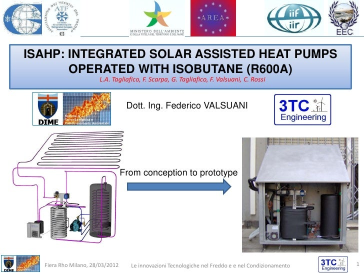 ISAHP: INTEGRATED SOLAR ASSISTED HEAT PUMPS       OPERATED WITH ISOBUTANE (R600A)                      L.A. Tagliafico, F....