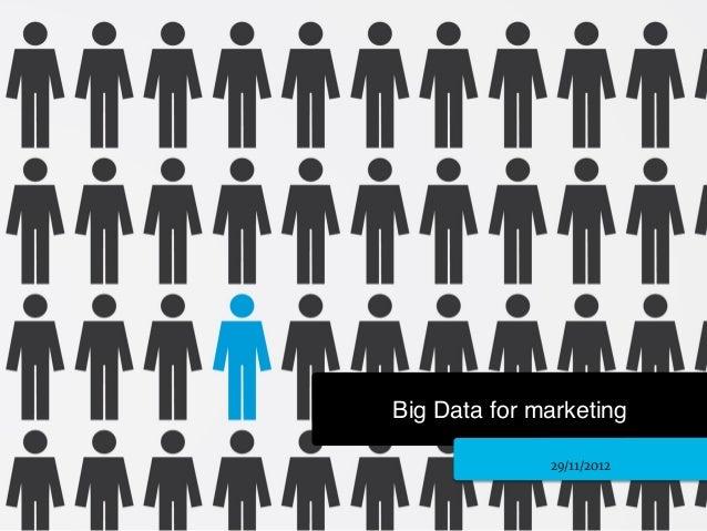 Big Data for marketing!               29/11/2012