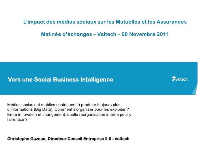 L'impact des médias sociaux sur les Mutuelles et les Assurances                  Matinée d'échanges – Valtech – 08 Novembr...