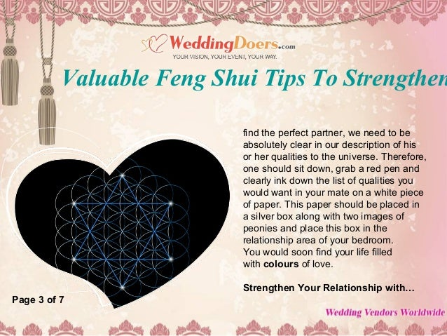 Feng Shui As a service to Attracting A Partner