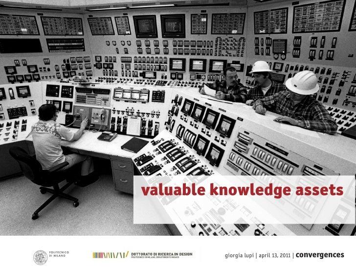 valuable knowledge assets          giorgia lupi | april 13, 2011 | convergences