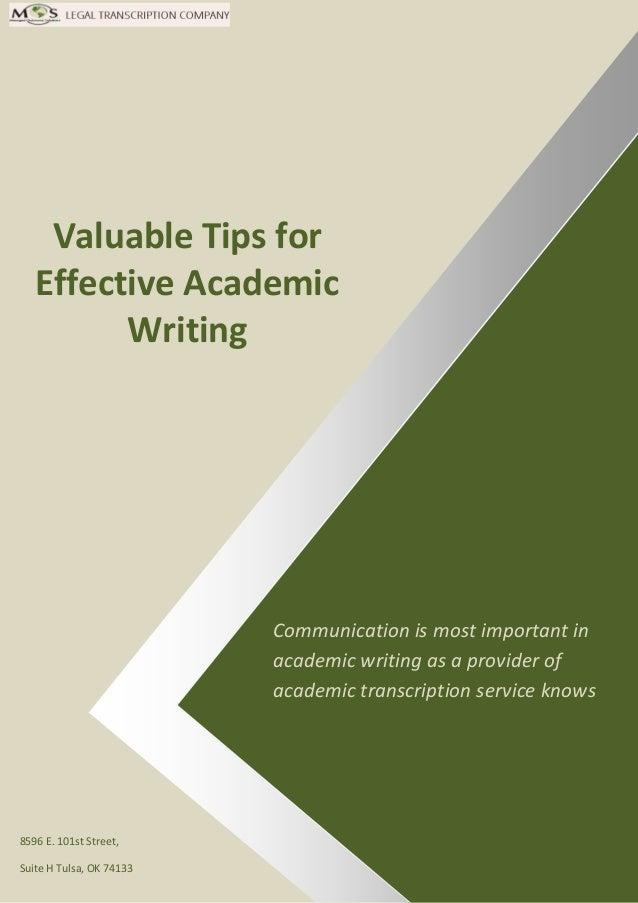 good academic writing