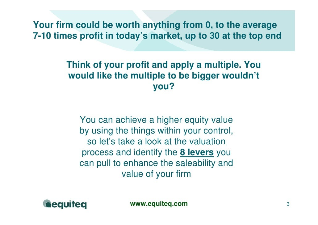 Consulting Company Valuation Model Slide 3