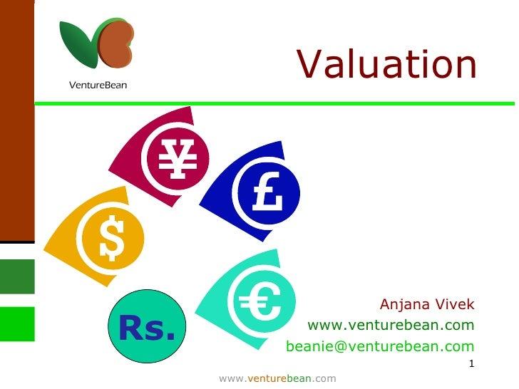 Valuation Rs. Anjana Vivek www.venturebean.com [email_address]