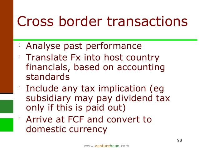 cross border valuation issue Evolving everyday in response to environmental problems, rising fuel cost, etc   our corporate advisory service is cross border valuation, predominately to.