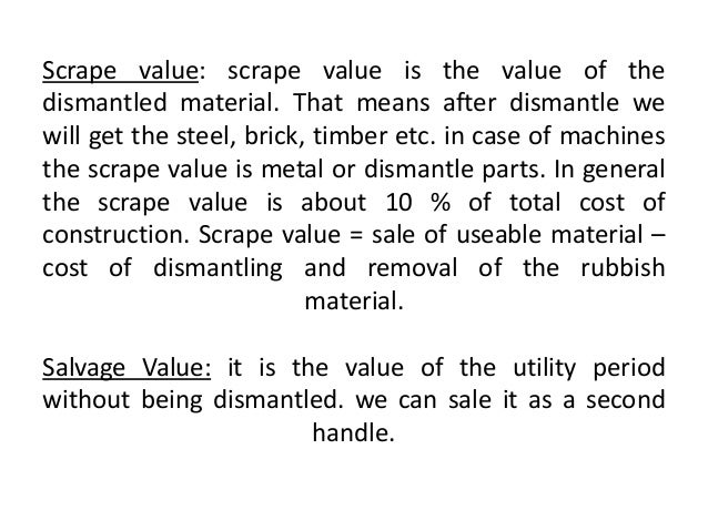 Valuation 6 scrape value fandeluxe Images