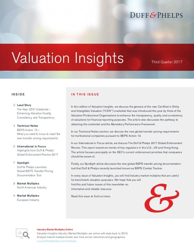 Valuation Insights - Q3 2017