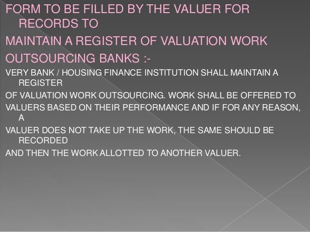 Valuation (REAL ESTATE) B ARCHITECTURE