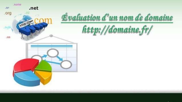 Évaluation D'un Nom De Domaine