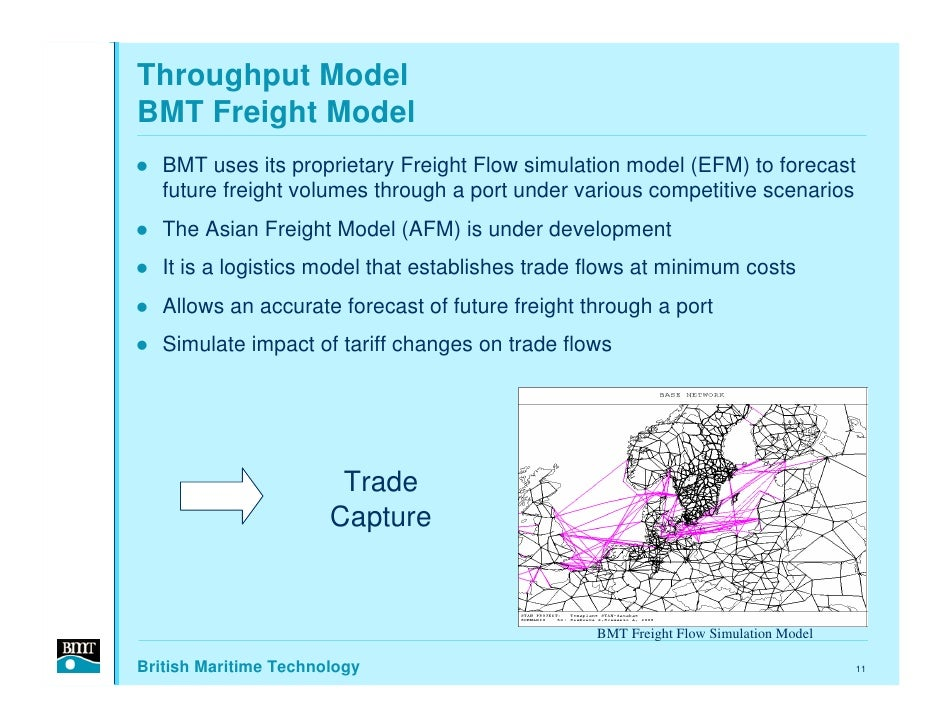 Throughput Model BMT Freight Model    BMT uses its proprietary Freight Flow simulation model (EFM) to forecast    future f...