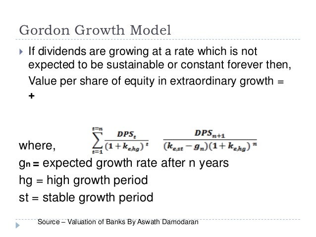 constant dividend growth model pdf