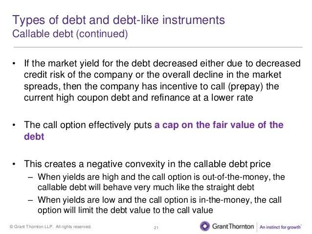 Debt holder put option