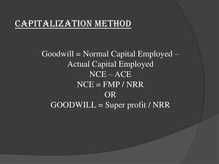 valuation of goodwill Ed, valuation & distribution of marital property 18-4 (1984)  a systematic approach to valuing the goodwill of professional practices by allen m parkman 1.