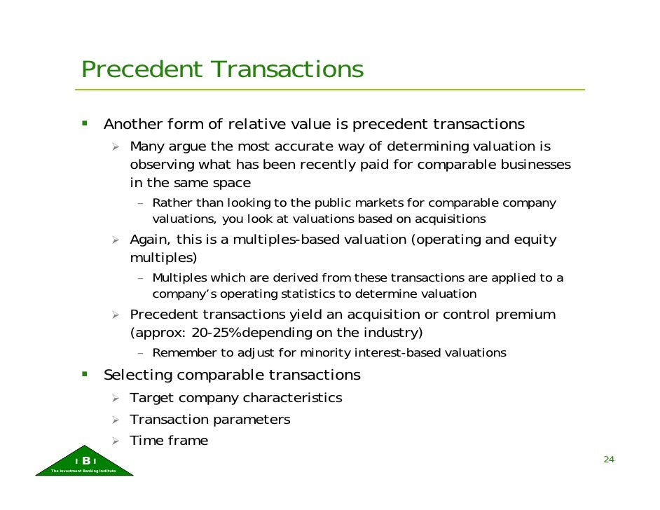 precedent transactions analysis Pitch books, formatting, industry analysis, competitors, recent transactions and   precedent m&a transaction analysis, deal multiples and financial ratios for.