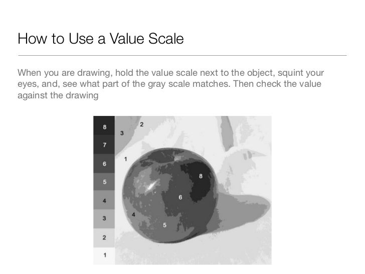 Art Value Scale Drawings
