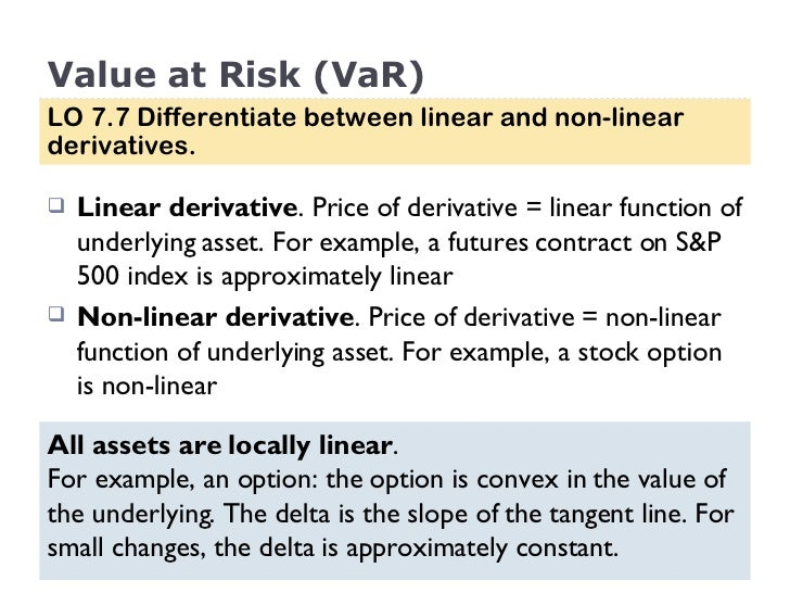 Linkage between underlying assets and derivatives