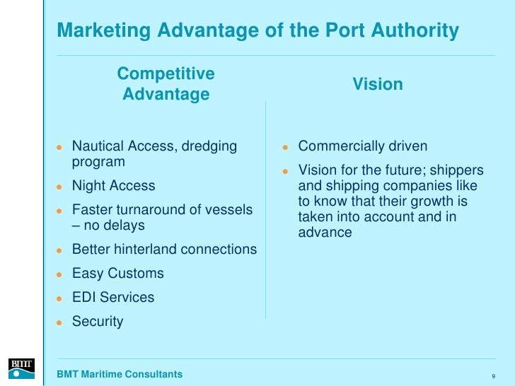 Marketing Advantage of the Port Authority             Competitive                                                  Vision ...