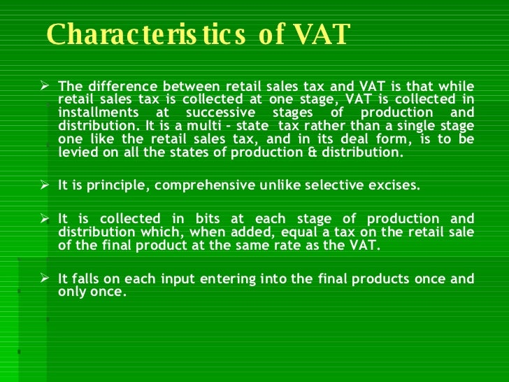 About vat in india.