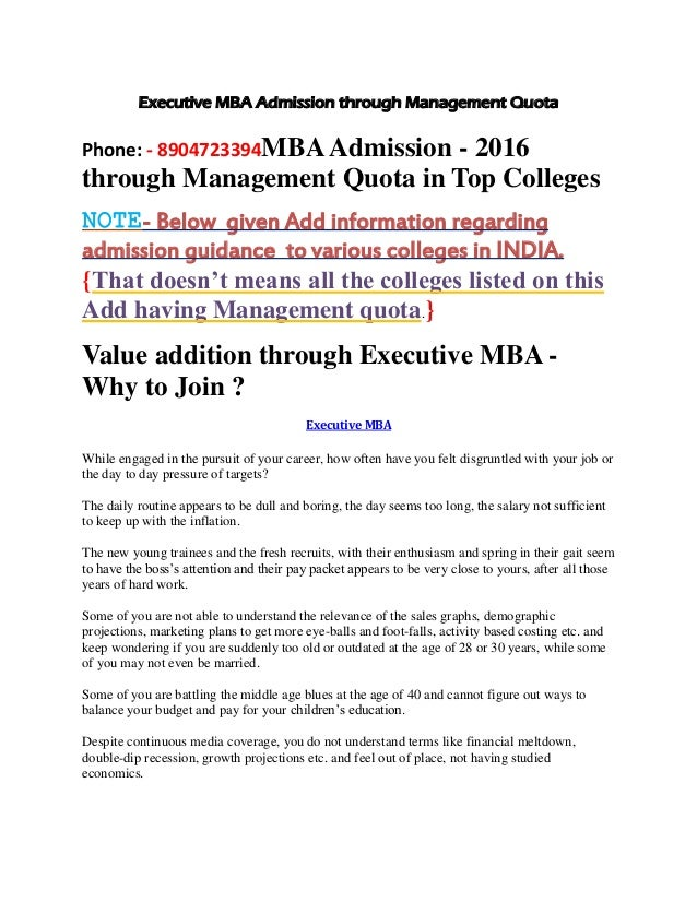 29d22c614b48 Value addition through executive mba | Admission services available for mba  pgdm through management quota