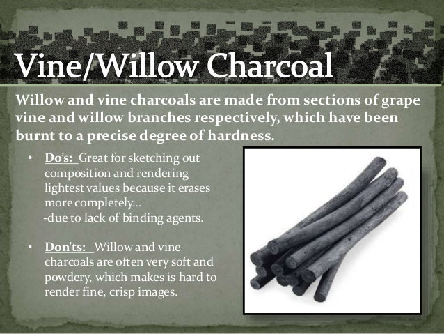 Image result for how is vine charcoal made