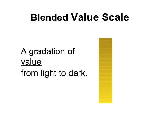 Blended Value ScaleA gradation ofvaluefrom light to dark.