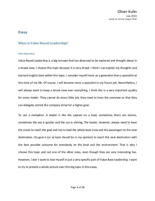 what are the most important qualities of a leader essay