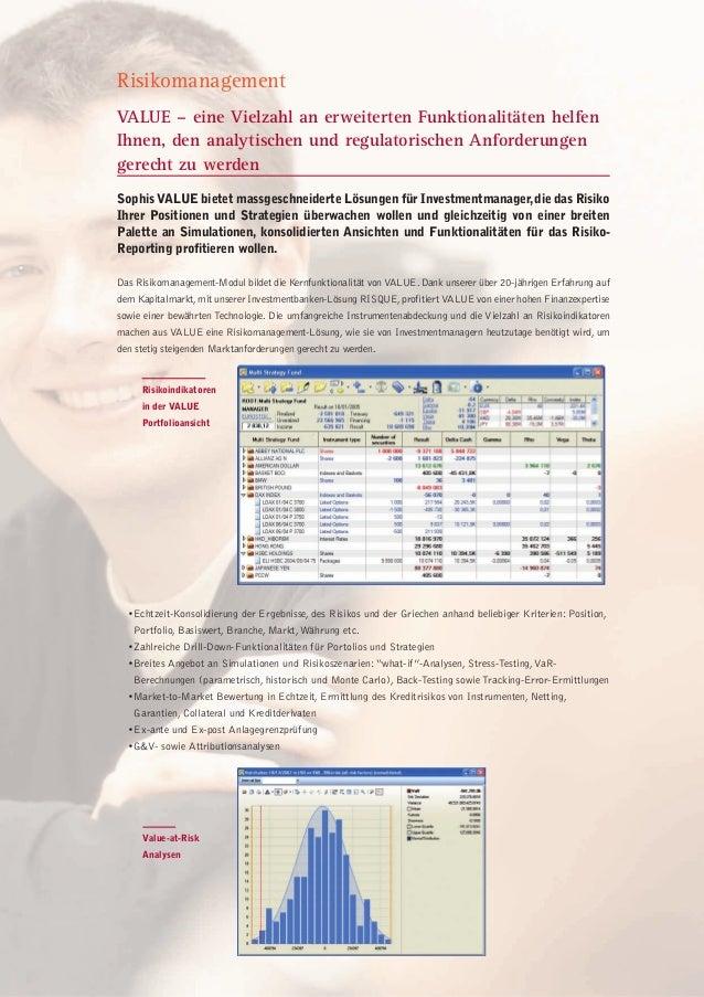 VALUE – eine Vielzahl an erweiterten Funktionalitäten helfen Ihnen, den analytischen und regulatorischen Anforderungen ger...