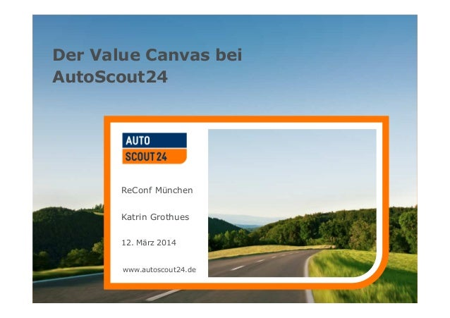 www.autoscout24.de Der Value Canvas bei AutoScout24 ReConf München Katrin Grothues 12. März 2014 www.autoscout24.de