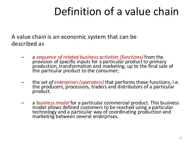 An Overview Of Value Chain Approach