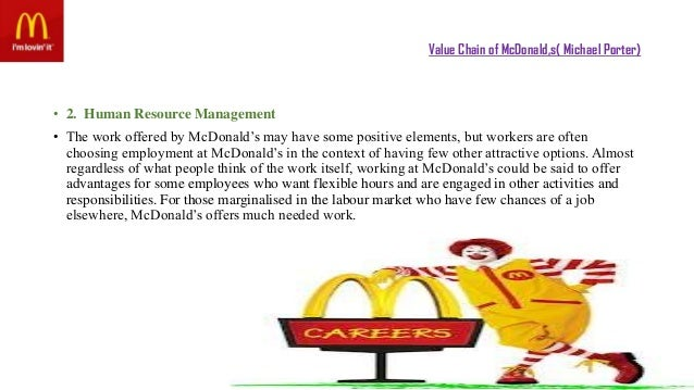 value chain for mcdonald Check out our top free essays on linkages in value chain mcdonald s to help you write your own essay.