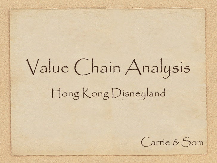 disneyland value chain analysis The value chain, also known as value chain analysis, is a concept from business management that was first described and popularized by michael porter in his 1985 best-seller, competitive advantage.
