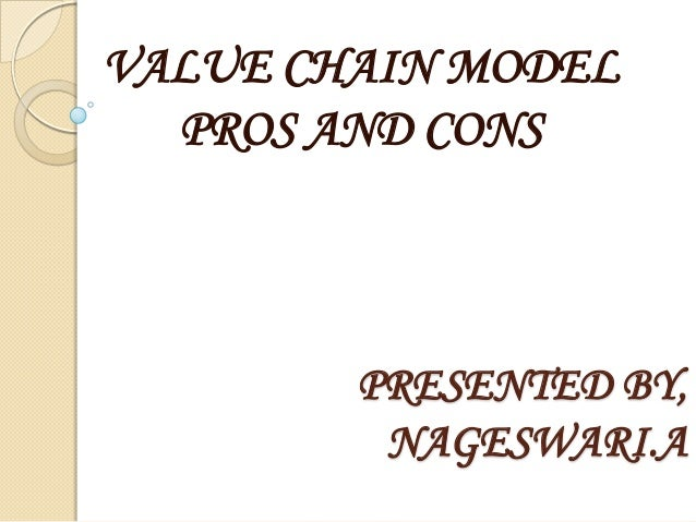 VALUE CHAIN MODEL  PROS AND CONS        PRESENTED BY,         NAGESWARI.A