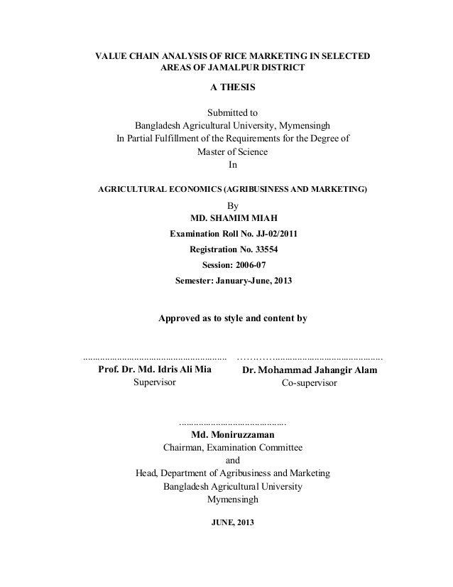 Past Theses and Dissertations