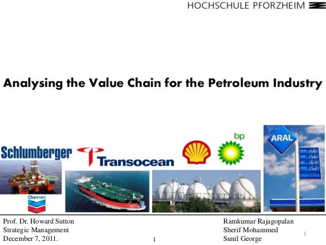 Analysing the Value Chain for the Petroleum IndustryProf. Dr. Howard Sutton            Ramkumar RajagopalanStrategic Manag...