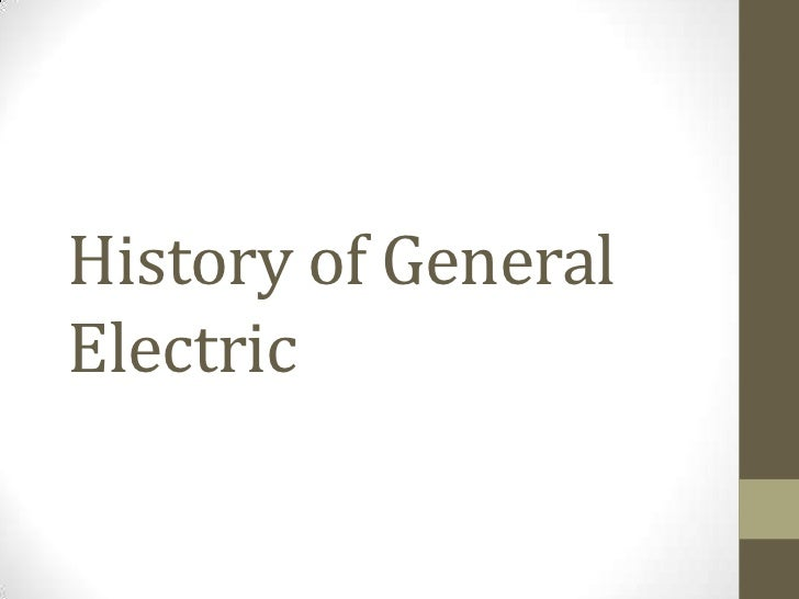 General electric introduction essay